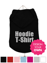 Dog Hoodie / T-Shirt - A fun, funky and distinct dog tank t-shirt with hood. Made from high quality, fine knit gauge, 100% cotton and features a cotton-flex ''xxxDesignxxx'' design.
