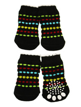 Space Invader Pet Socks - These fun and functional doggie socks protect your dogs paws from mud, snow, ice, hot pavement, hot sand and other extreme weather. Made from 95% cotton and 5% spandex making them comfortable and secure. Each sock features a paw shaped anti-slip silica pad and help keep your house sanitary. (set of...