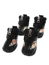 Checked Dog Shoes - These are not just a great style item to match your own boots but you can protect your dog's paws or cover them when they are injured. These dog boots can also protect boat decks / wooden floor from claws and help elderly dogs stop sliding on tiles or floors.