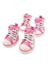 Pink Baseball Boots - These are not just a great style item to match your own trainers but you can protect your dog's paws or cover them when they are injured. These dog boots can also protect boat decks / wooden floor from claws and help elderly dogs stop sliding on tiles or floors.