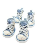 Blue Baseball Boots - These are not just a great style item to match your own trainers but you can protect your dog's paws or cover them when they are injured. These dog boots can also protect boat decks / wooden floor from claws and help elderly dogs stop sliding on tiles or floors.