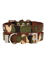 Camouflage Fabric Collar - If you have an action boy or girl this collar will be right up their street. It is lightweight and incredibly strong. The collar has been finished with chrome detailing including the eyelets and tip of the collar. A matching lead, harness and bandana are available to purchase separately. You can be...