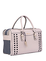 Aimee Pet Carrier - One of our favourite and most elegant of bags! Designer fashion all the way. Our Aimee Pet Carrier is especially designed to help you look fabulous and make your pet's journey as comfortable and as safe as possible. It has a beautiful faux leather outer with a series of ventilation holes which add t...