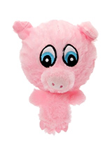Porky the Pig Plush & Squeaky Dog Toy - The head of Porky the Pig is actually a rubber ball with a bumpy surface covered in fabric and is a great interactive toy for playing 'fetch'. He is quite robust and will stand up to a lot of chewing and biting. The rest of him is cuddly and colourful with an added squeak to entertain your pet! This...