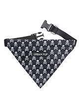 Skulls & Crossbones Bandana - Our Skulls and Crossbones Bandana is one for all the bad boys and girls out there. Just attach your lead to the D ring and this stylish Bandana can also be used as a collar. It is lightweight and incredibly strong. You can be sure that this stylish and practical Bandana will be admired from both nea...