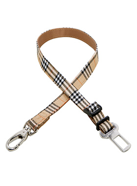 Urban Pup Brown Checked Tartan Seat Belt Restraint